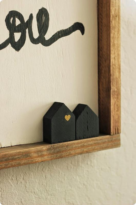 little cut wooden houses from alwaysinwonder.com