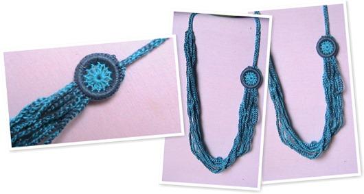 Exibir Colar de Crochê com Mandala