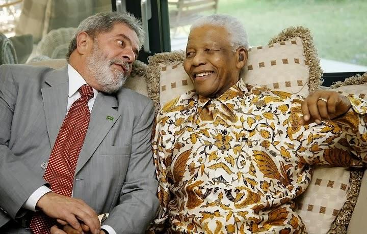 Lula e N Mandela