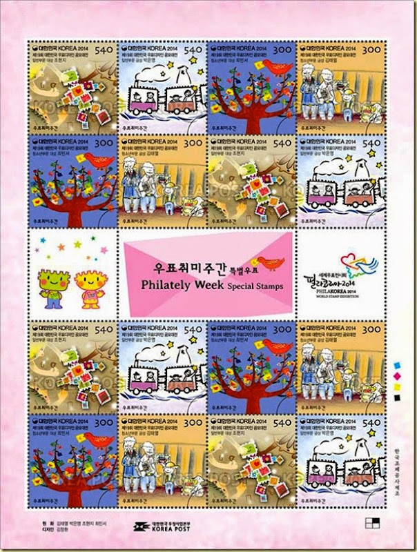 Phila Korea stamp set