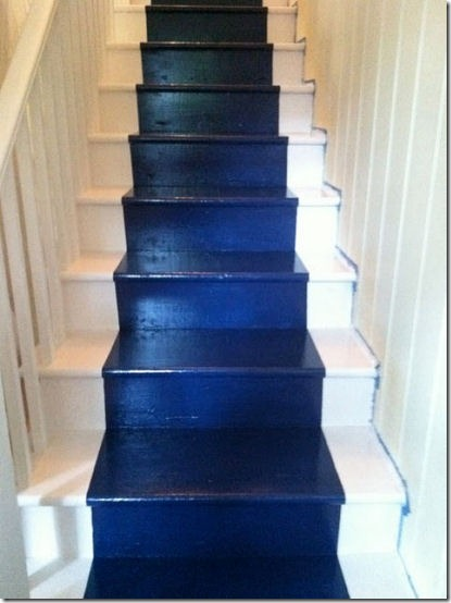 friday feature--painted stairs from i like what im herring blog