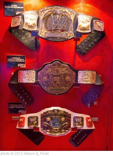'WWE Fan Axxess - Championship Title belts' photo (c) 2012, Simon Q - license: https://creativecommons.org/licenses/by/2.0/