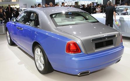 Rolls Royce Art Deco Phantom Ghost rear three quarters