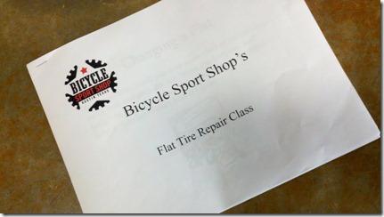 flat tire repair class