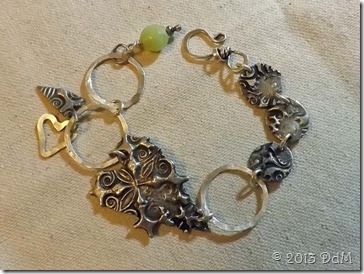 Molten Lava and silverwork bracelet - Art Camp