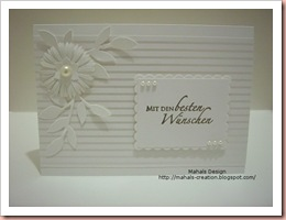 Hochzeitssetweißkarte