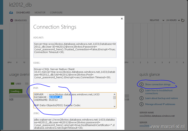 Azure SQL connection strings