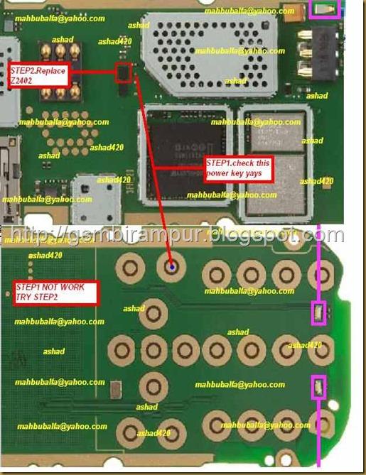 Nokia 2690 Power key ways.