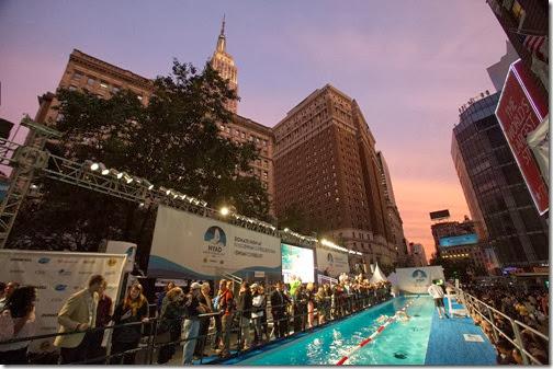 Diana Nyad Swim Herald Square