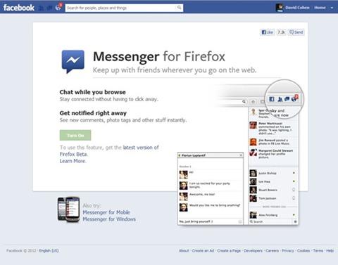 Messenger Facebook para Firefox