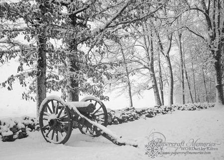 Gettysburg Snow 4 --2-14 www.papercraftmemories.com