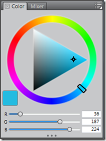 The Corel Painter Lite's Colour/Hue Ring Palette