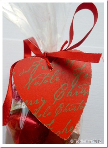 Valentine bag Of Love sweetie favor bag