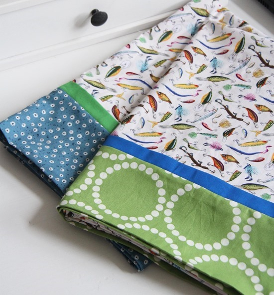 Fishing Pillow Cases, Cluck Cluck Sew