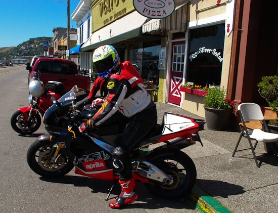 Aprilia arrives in Sausalito