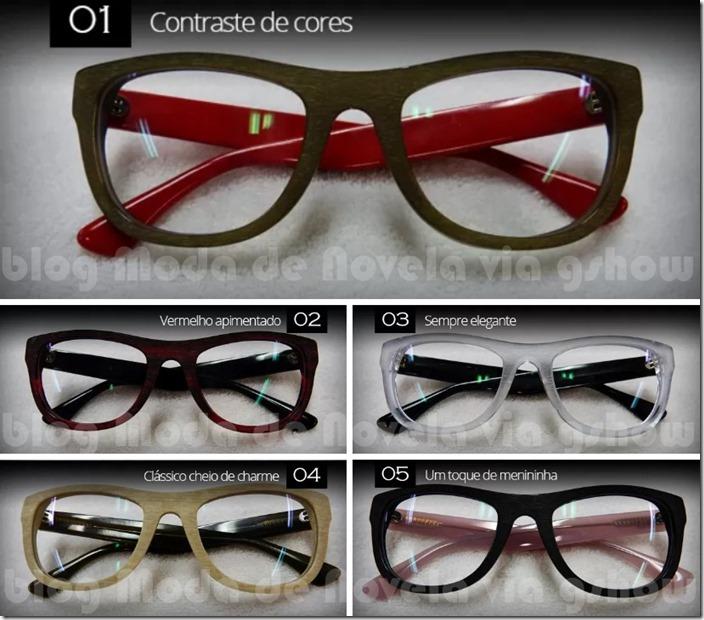 moda da novela império - todos os óculos da érika