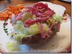 Irish baked potato - The Backyard Farmwife