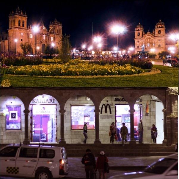 McDonald's, Plaza de Armas Cusco, Peru