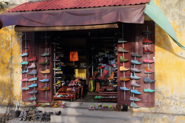 A Shoe Shop in the old quarter of Hoi An, Vietnam