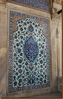 Istanbul, sultans tombs, tiles