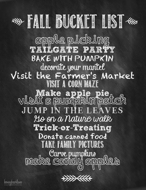 fall bucket list chalk