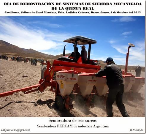 Sembradora de seis surcos FERCAM-Rubén Miranda_LaQuinua.blogspot.com