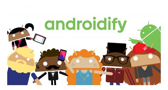 Androidify تطبيق عمل شخصيات كارتونية أندرويد Avatars