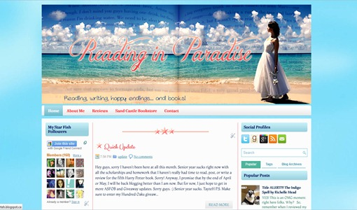 A new look for the blog design winner!