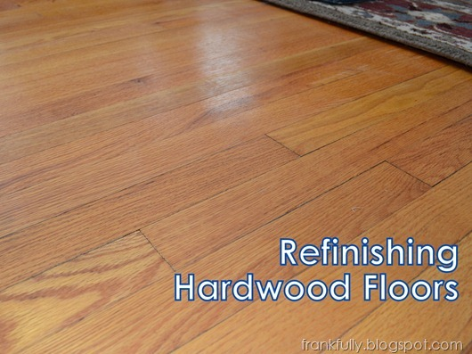 Frankfully how we refinished our painted hardwood floors for Refinishing painted hardwood floors