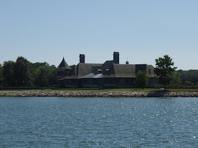 One of the huge waterfront houses. It must have been so pretty before all those huge houses were built!