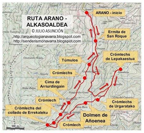 Mapa ruta Arano Alkasoaldea