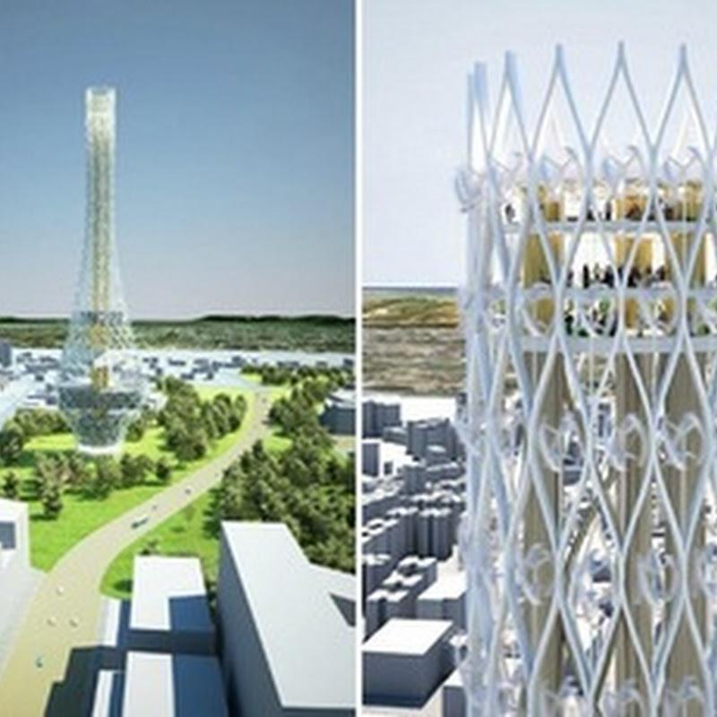 El rascacielos eólico de turbina: Energía eólica en la ciudad de Taiwán