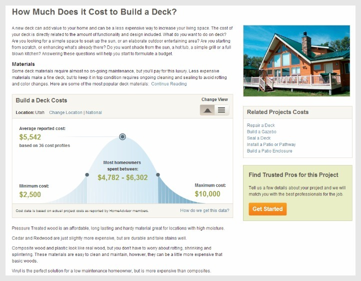 Home Advisor Cost Guide