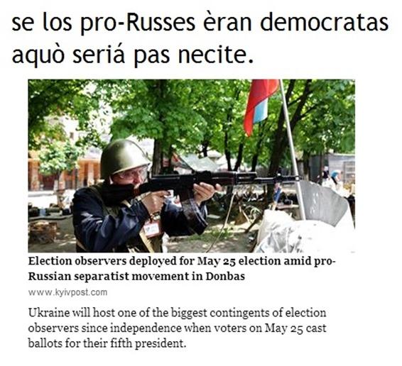 Ucraïna contra pro-Russes q fan complicat las eleccions del 25 de mai de 2014