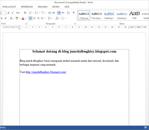 Cara Menghilangkan Garis Text Boundaries Antar Paragraph di Ms Word 2013 03