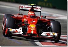 Kimi Raikkonen con la Ferrari