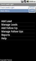 Screenshot of Sales Leads Tracking Lite Free