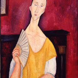 Modigliani, Woman & fan.jpg