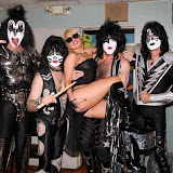 Lady Gaga Poses Backstage with KISS