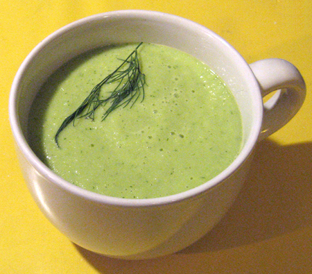 Cucumber-avocado soup plain...