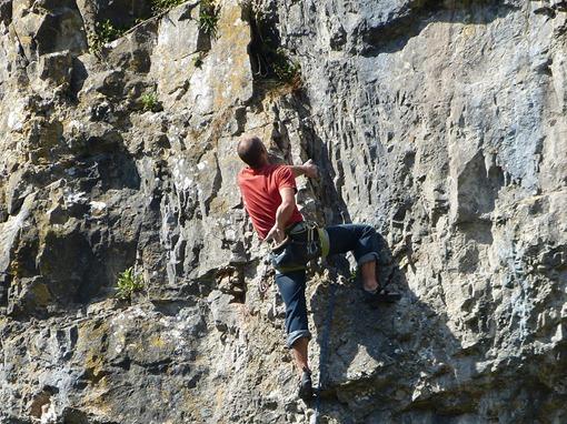 Ущелье Чеддер, альпинист