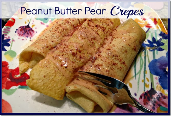 peanut butter pear crepes