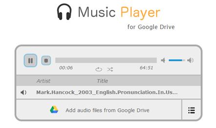 เล่นเพลงออนไลน์ใน google drive