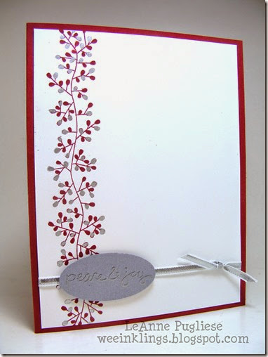 LeAnne Pugliese WeeInklings Paper Players 218 Bordering Blooms Stampin Up Christmas