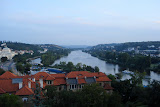 View of the Vltava river from Vysehrad