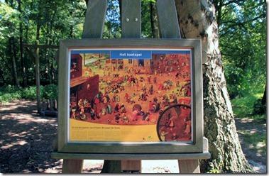 自転車道の途中にあるブリューゲルの絵が面白い!