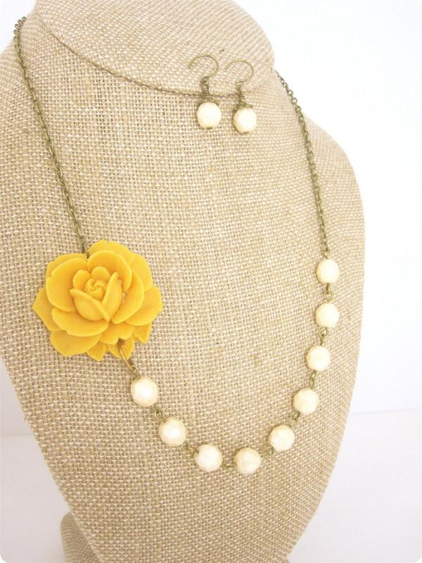 neckace and earrings