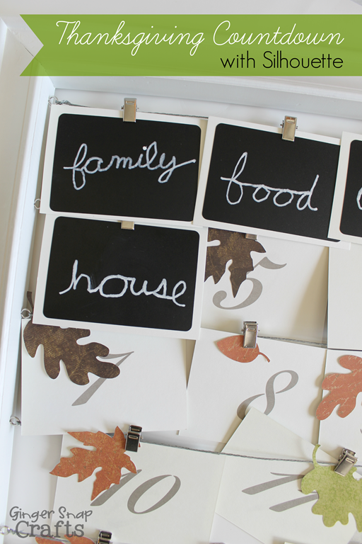 Thanksgiving Countdown with Silhouette #advent #countdown #thanksgiving GingerSnapCrafts.com #ad