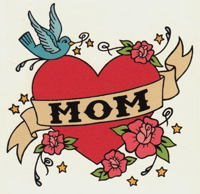Mom tattoo card