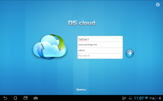 Screenshot of DS cloud